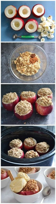 Slow Cooker Stuffed Apples