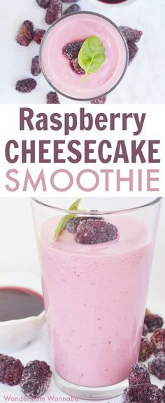 This raspberry cheesecake smoothie taste like dessert but is loaded with vitamins, antioxidants and protein! #smoothies #raspberries