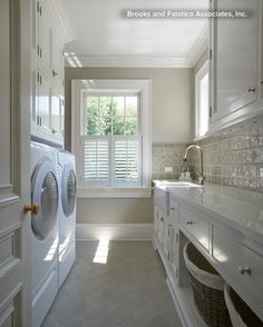Georgian Residence New Canaan – traditional – Laundry Room – New York – Brooks and Falotico Associates, Inc. Georgian Residence New Canaan – traditional – Laundry Room – New York – Brooks and Falotico Associates, Inc. Laundry Room Storage, Laundry Room Design, Laundry In Bathroom, Laundry Rooms, Laundry Baskets, Basement Laundry, Bathroom Plumbing, Laundry Area, Basement Bathroom