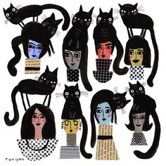 BLACK CAT HATS – Terry Runyan Creative