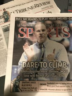 As I was going through some old newspapers, I didn't realize the sports section for Pittsburgh Tribune-Review was a tab. And look, it's current Michigan coach John Beilein.