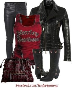 rocker outfits | Biker / Rocker Chick  I WANT THIS OUTFIT!!!