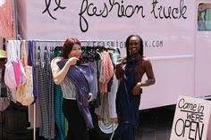 Le Fashion Truck at Figat7th in Downtown LA. Pic by Teal Moss.