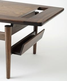 "architectureandfilmblog: "" Low table with magazine rack, Jens Risom, 1950′s. JENS RISOM MEETS DESIGN WITHIN REACH (2012) We said goodbye last year to this Danish American furniture designer and sometime architect, whose prolific life spanned 100..."