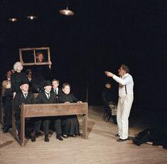 Tadeusz Kantor during the performance of Dead Class, Cricot 2 Theatre, 1983 photo by Wojciech Kryński