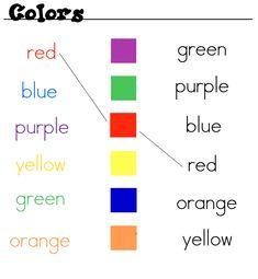 Resultado de imagem para cores em ingles atividades