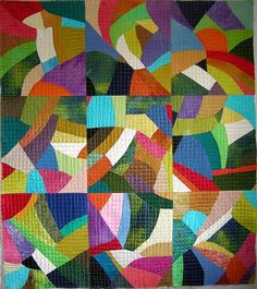 """Allie's in Stitches: """"Inspired By..."""" A Modern Take on an Amish Crazy Quilt"""