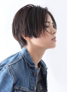 Image result for 前髪長め・ストレートのボーイッシュ系ショート