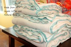 Full/Queen - Organic Blankets by BAD BLANKIE. $240.00, via Etsy.  Organic Cotton and Hemp