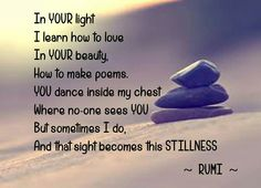 Rumi. At his best