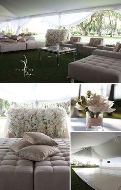 lavish lounge wedding decor