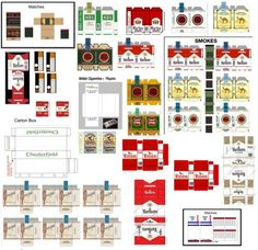 Imprimibles – Paquetes de tabaco en miniatura