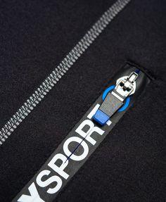 Mens - Sports Athletic Panel Zip Hoodie in Black | Superdry