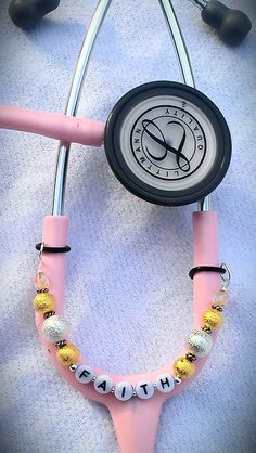Silver and Gold PERSONALIZED STETHOSCOPE CHARM for Nurses, Docs, Healthcare Professionals. $12.00, via Etsy.