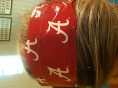 Check out this stylish headband, easy to make and perfect for tailgating! Duck Tape Crafts, Football Fashion, Tailgating, Diy Crafts, Stylish, Board, Easy, Check, Make Your Own