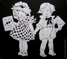 Картина панно рисунок Валентинов день Вырезание Валентинка Бумага фото 23