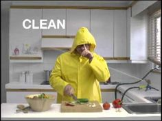 Illness-causing bacteria can survive in many places around your kitchen, including your hands, utensils, and cutting boards. Unless you wash your hands, utensils, and surfaces the right way, you could spread bacteria to your food, and your family.  Visit http://www.foodsafety.gov/keep/basics/clean/index.html for more food safety information