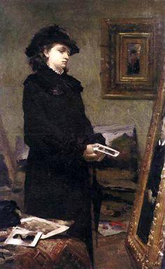 Leon Wyczółkowski - A Young Woman in the Studio