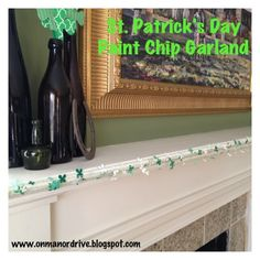 On Manor Drive: St. Patrick's Day Paint Chip Garland