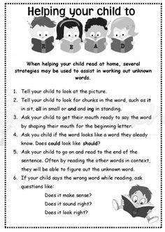 great hand-out to send home to parents