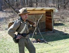 Andrew Donovan of the 9th Kentucky Re-enactors Association portrays a Confederate soldier circa 1863 and will be part of the Civil War Re-enactment at Kensington Metropark on Saturday, May 11, and Sunday, May 12