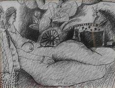 10 - L'embarquement de la Reine de Saba by Theo Tobiasse (queen of sheba)