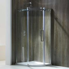 Frontline Aquaglass+ Single Door Offset Quadrant Shower Enclosure - Fast Delivery, Will Not Be Beaten on Price. Call Bella Bathrooms on 0191 303 7771 Tall Cabinet Storage, Locker Storage, Quadrant Shower Enclosures, Power Shower, Bathroom Plants, Bathroom Ideas, Shower Cubicles, Chrome Handles, Shower Systems