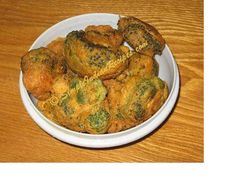 Broccoli Bajji | Simple Indian Recipes - try also fried potato or apple