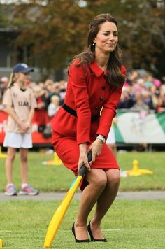 4/14/14 Kate in Christchurch, New Zealand to watch & participate in a 2015 Cricket World Cup event.