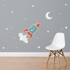 rocket fabric wall stickers nest accessories space rockets mirrorin notonthehighstreet