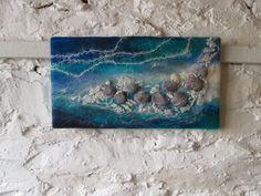 felt pebbles abstract felt art abstract water by SueForeyfibreart, Nuno Felting, Needle Felting, Felt Wall Hanging, Felt Pictures, Donia, Textiles, Textile Fiber Art, Wool Art, Needle Felted Animals