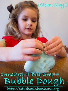 Bubble Dough: Dish Soap + Corn Starch