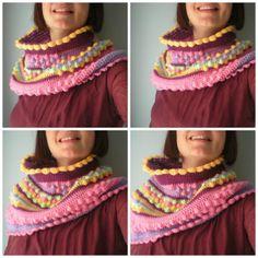 Crocheted Scarf Pictorial Tutorial By Cristina Catalunya - (myworldofwool)