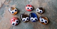 Set of 5 Bug Buddy's, Adorable Goggle Eyes Fairy Garden Accessories, Different Colour Fairy Garden Bugs, Finishing touch to your Fairy Garden or that of a Friend or Family Member. Thank you for your time Craft Accessories, Fairy Garden Accessories, Harry Potter Set, Garden Bugs, Fairy Furniture, Selling On Pinterest, Time Shop, Miniature Fairy Gardens, Tooth Fairy