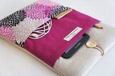 Pink floral iPad Pro ipad mini Sleeve iPad Air Cover iPad por TWIZE
