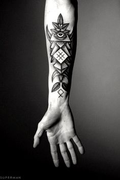 Looking for abstract tattoo ideas? Here are abstract tattoos contain the top most popular abstract geometric tattoo & abstract forearm tattoo designs. Unique Tattoos For Men, Wrist Tattoos For Guys, Cool Forearm Tattoos, Forearm Tattoo Design, Cool Tattoos For Guys, Tattoos For Women, Awesome Tattoos, Men Tattoos, Ankle Tattoos