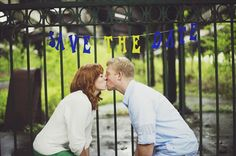 kiss - engagement session (photo by michelle gardella photography)