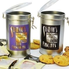 Perfect for Chocolate Day - The Personalised Hot Chocolate Drinkers Set includes a tin of biscuits and luxury hot chocolate that they will love. What's more, the tins are personalised with their name! #Chocolate #Biscuits #PersonalisedGifts  £16.99
