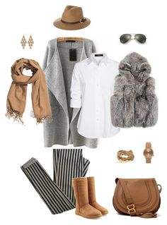 """""""11"""" by sungin-cho on Polyvore featuring Topshop, UGG Australia, Rusty, H&M, Ray-Ban, Irene Neuwirth, Chloé and Steffen Schraut"""
