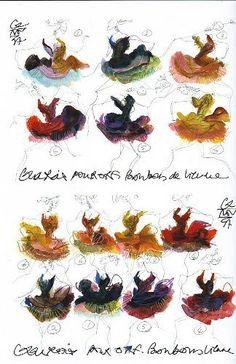 Ballet costume designs by Christian Lacroix.