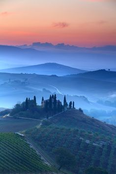 Val Orcia, Tuscany, Belvedere, Italy