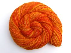 Hand Spun Yarn - TEQUILA SUNRISE - Hand painted Silk / Polwarth wool, Fingering weight, 404 yards - pinned by pin4etsy.com