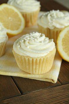 Lemon Cupcakes with Lemon Mousse Frosting