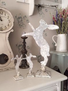Rustic Metal Ornament Hare  We love these metal boxer Hares. The metal has been given an aged affect.
