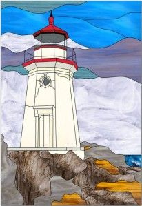 1000 images about stained glass lighthouses on pinterest - Dessin de phare ...