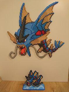 Pokemon #54 - Mega Gyarados + mini by MagicPearls