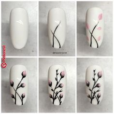 25 nail designs step by step! - - - 25 nail designs step by step . - 25 nail designs step by step! – – – 25 nail designs step by step! Nail Art Hacks, Nail Art Diy, Easy Nail Art, Cool Nail Art, How To Nail Art, Nail Manicure, Diy Nails, Cute Nails, Manicures