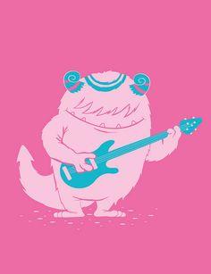 monster 3; el monstruo roquero, le gusta la música y los juguetes musicales
