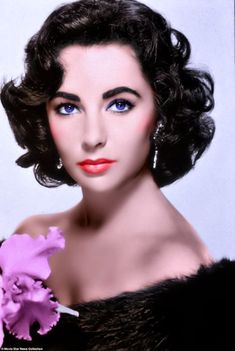 Elizabeth Taylor again. Had some problems with skin tone and the flowers. May do it over again.