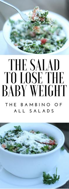 This is the salad. The great Bambino (Sandlot anyone?!) of all salads for weight loss and milk supply. Like all postpartum mamas, two major issues on my mind are getting rid of the baby weight and keeping up a healthy supply. Now, parsley is a big player in this salad, and it's been said it …